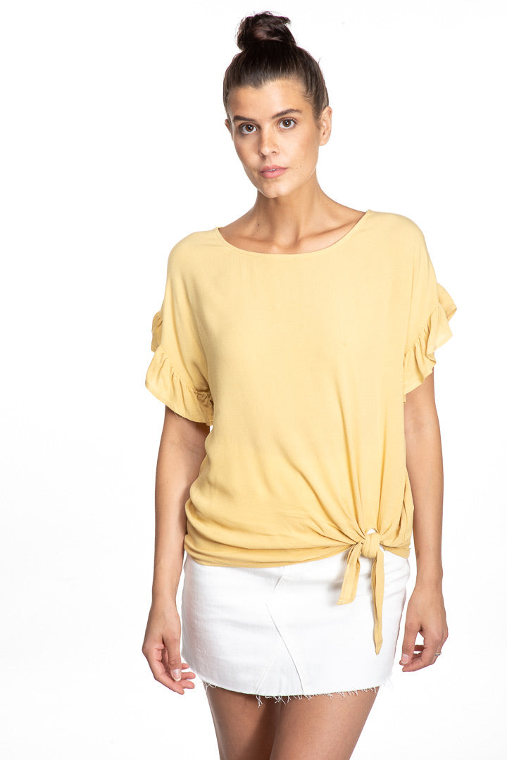 Ruffle Sleeve Top (more colors)