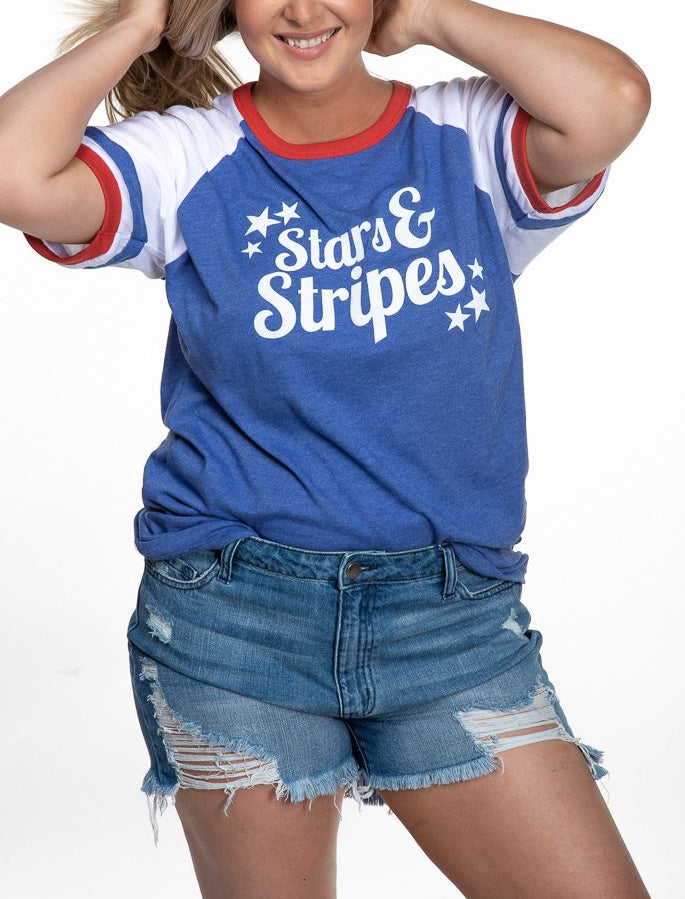 Stars And Stripes Ringer Tee
