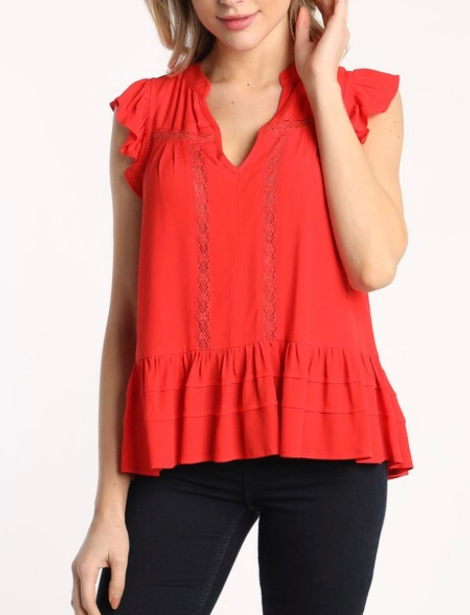 Lace Trim Top (more colors)