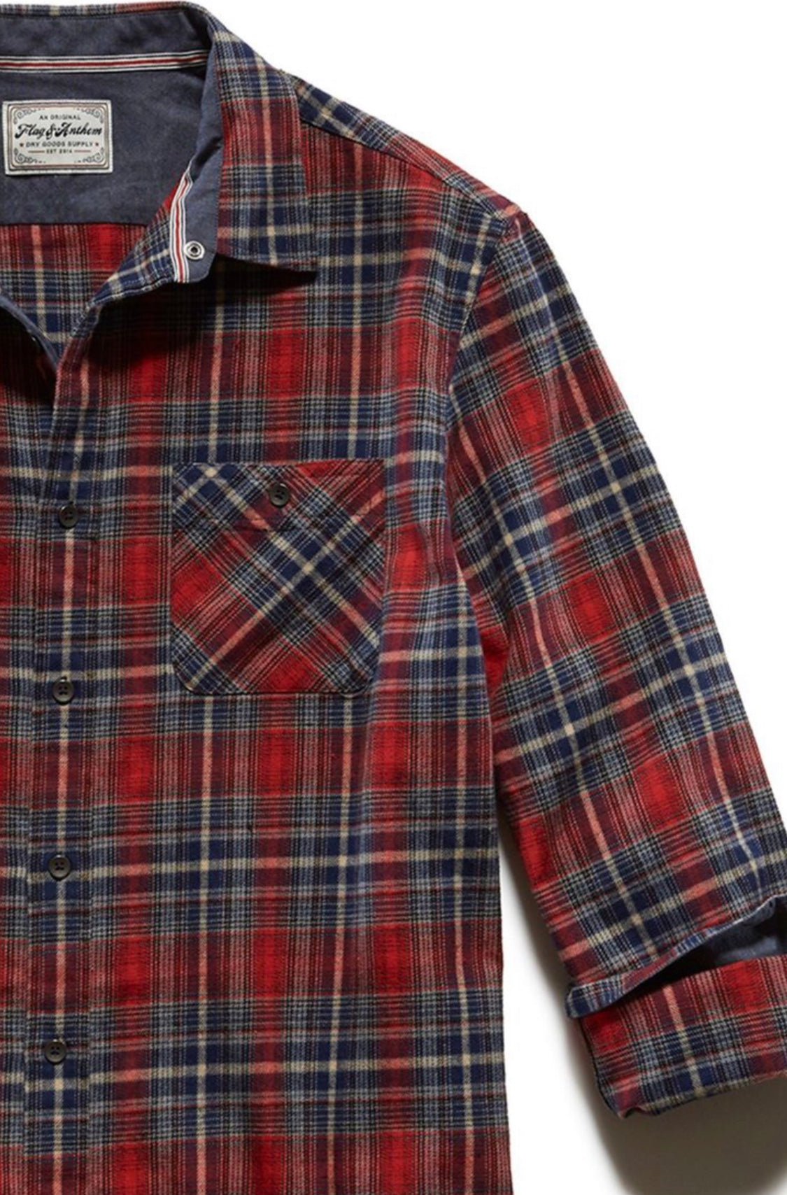 Flag and Anthem Winnett Long Sleeve Flannel Shirt FA19WS068
