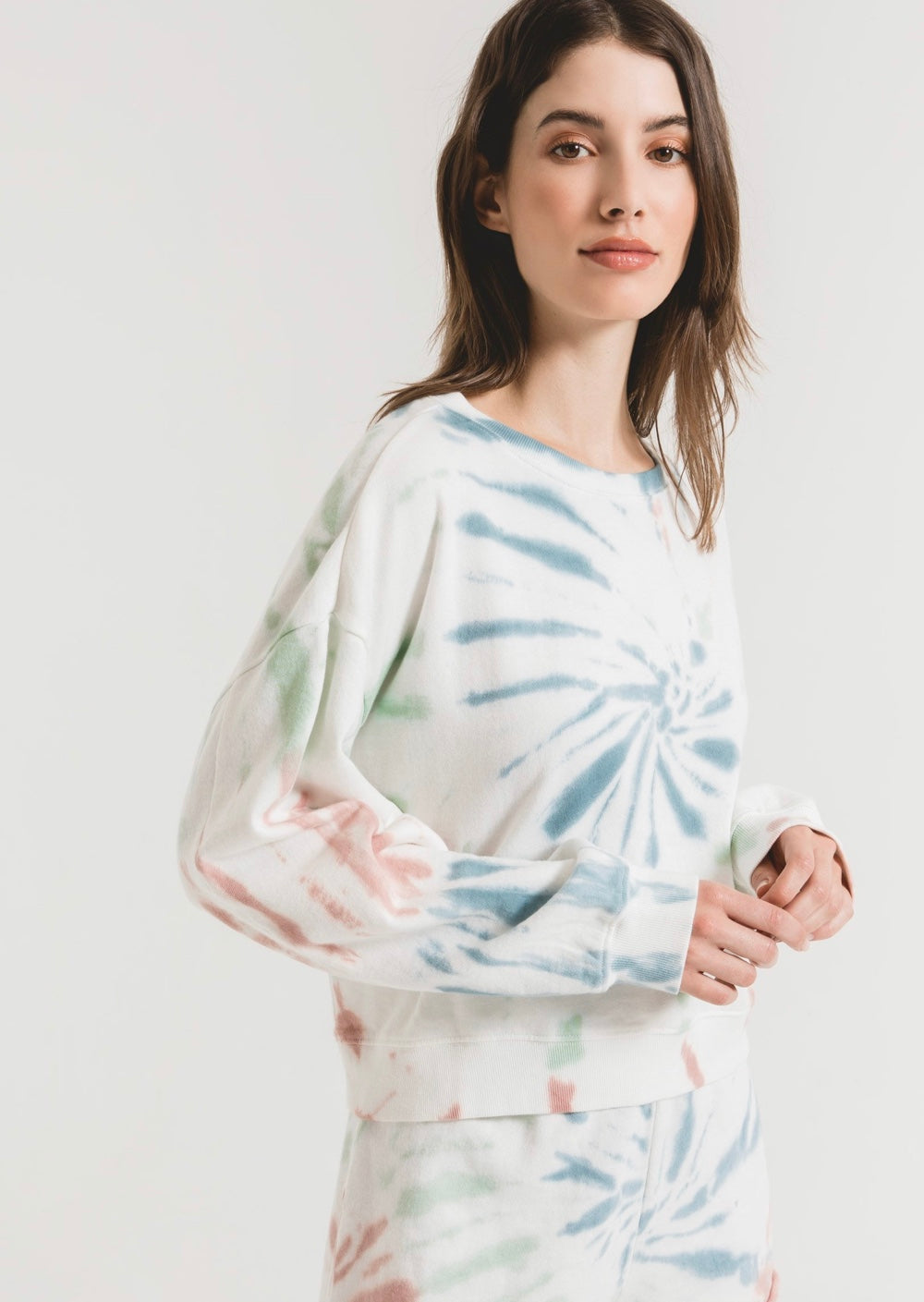 Z Supply Multi Color Tiedye Pullover ZT201236