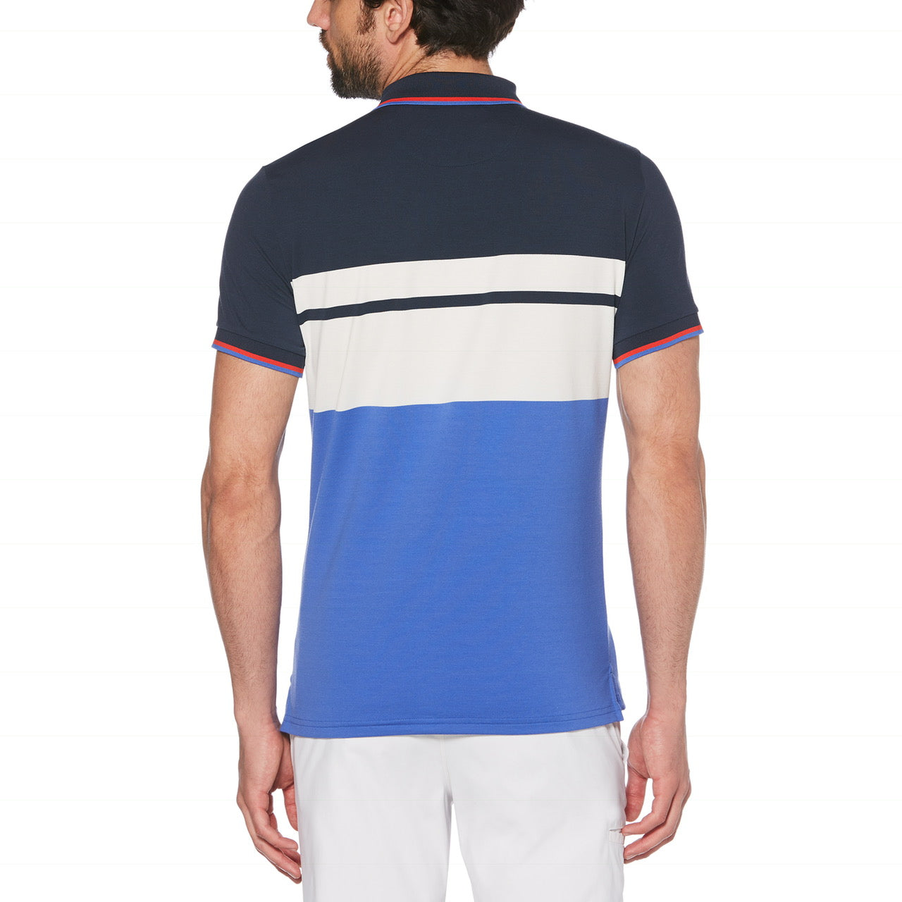 Penguin Golf The Captain Engineered Striped Polo