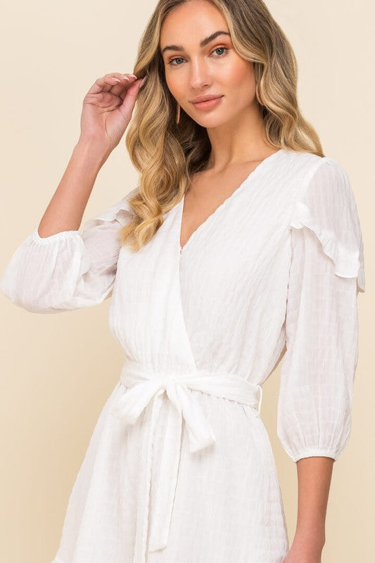 All In Favor Ruffle Sleeve Romper IP2226-FCI