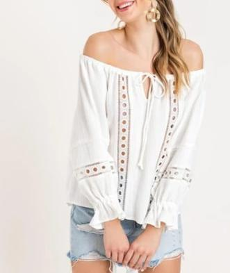 Off Shoulder Crochet