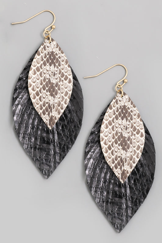 Leather Leaf Earrings (more colors)