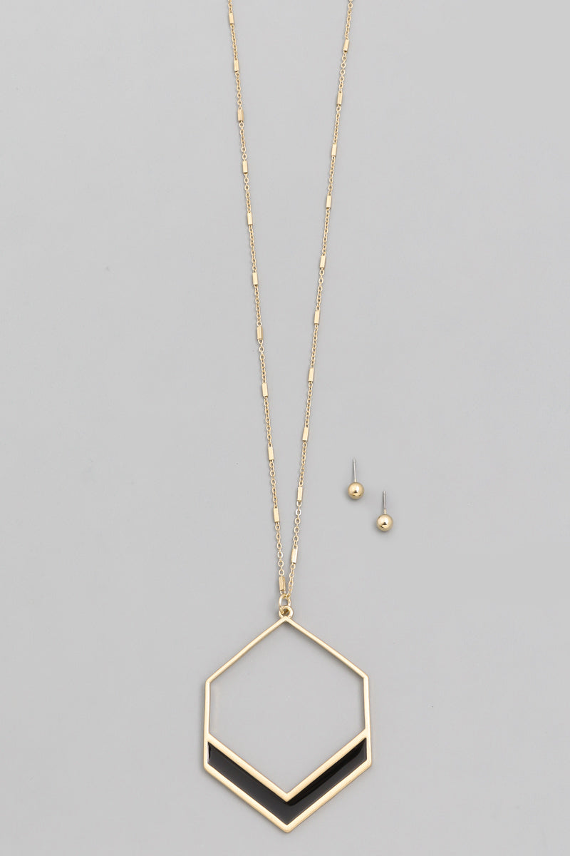 Hexagon Necklace (more colors)