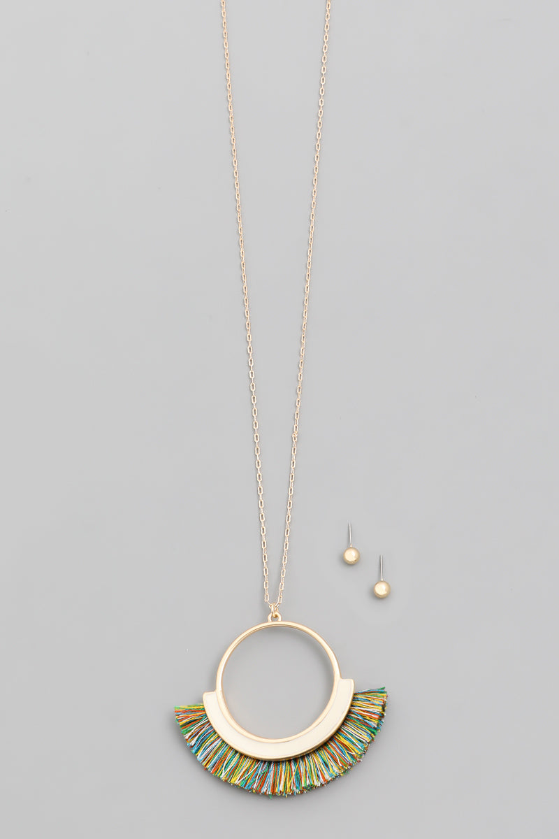 Circle Fan Necklace