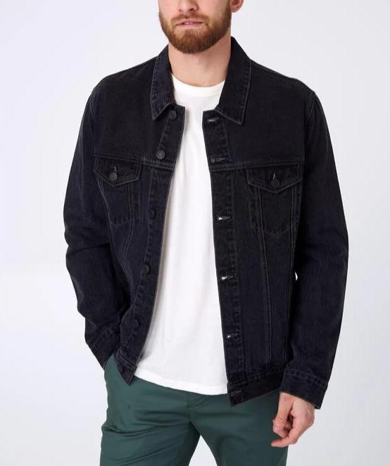 7 Diamonds The Denim Jacket - Black Rinse SKDJ-1003