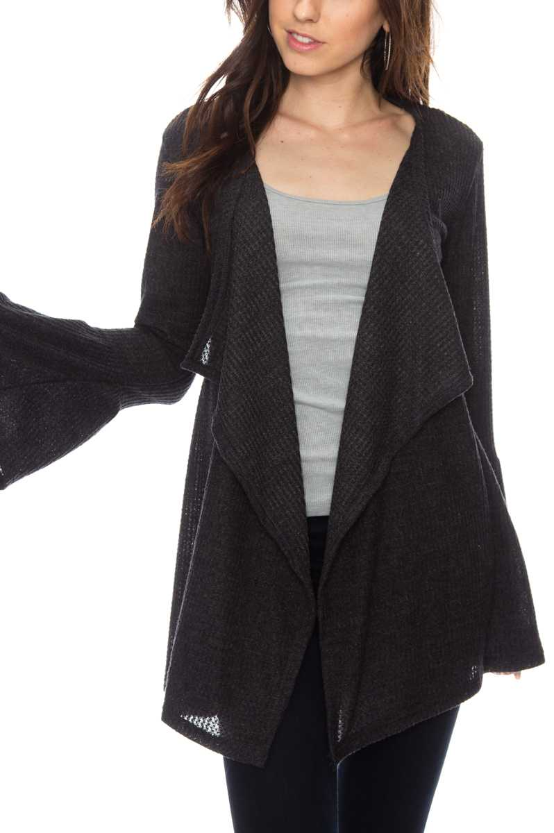 Ruffle Sleeve Thermal Cardi (more colors)