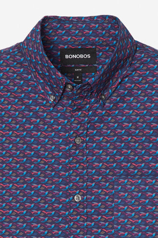 Bonobos Washed Hummingbird Night Beats Shirt 24273-BNF13