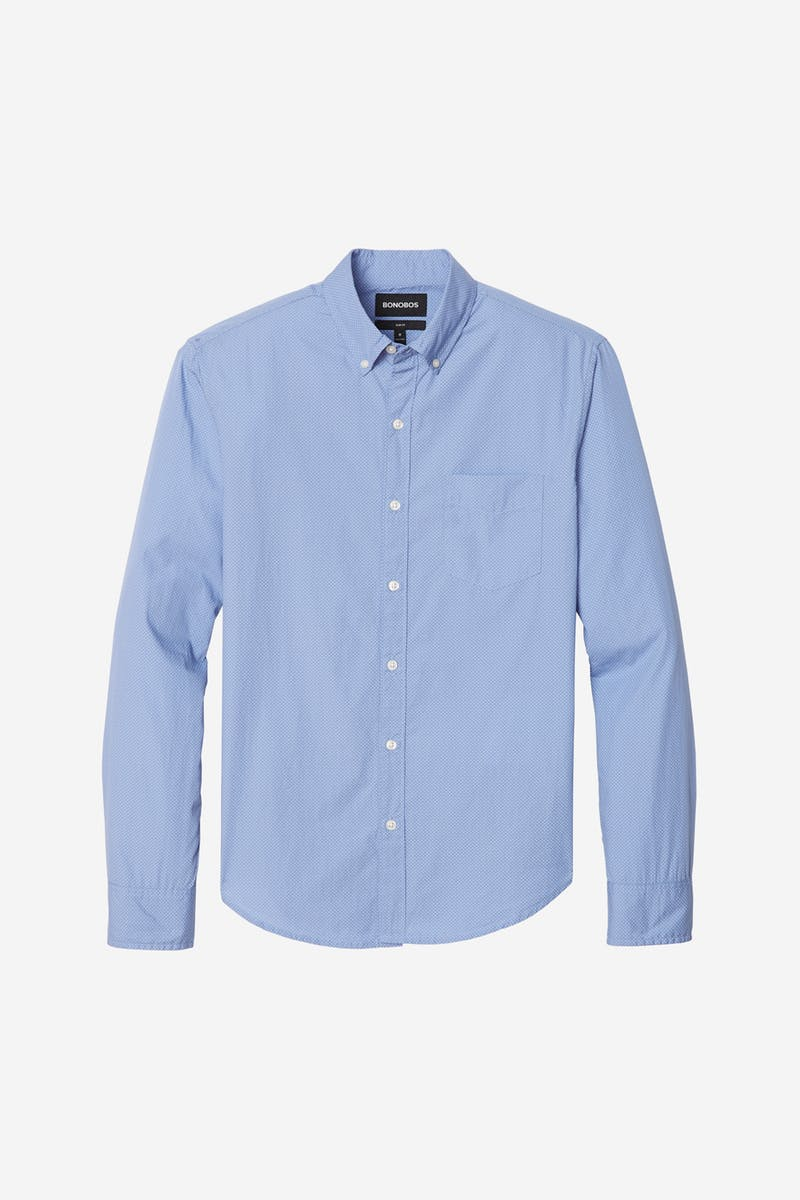 Bonobos Washed Button Chambray Dot Shirt 24273-BNF18