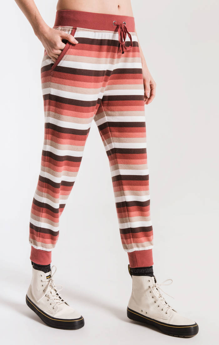 Z Supply Rainbow Stripe Cropped Jogger ZP191959