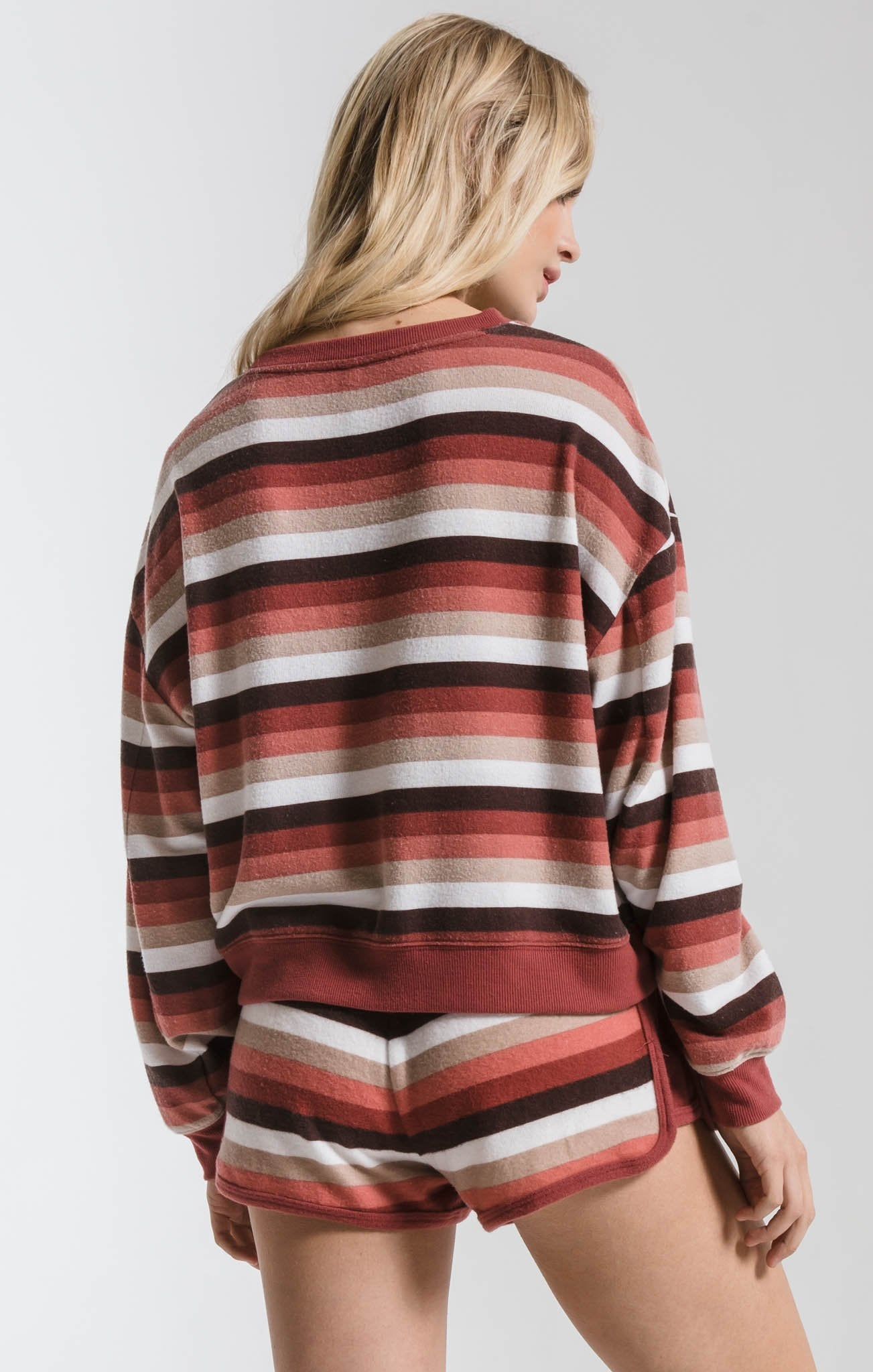 Z Supply Rainbow Stripe Pullover ZT191710