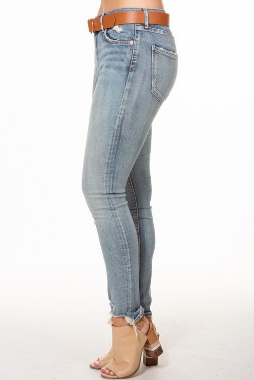 AGOLDE Sophie High Rise Skinny Roundhouse