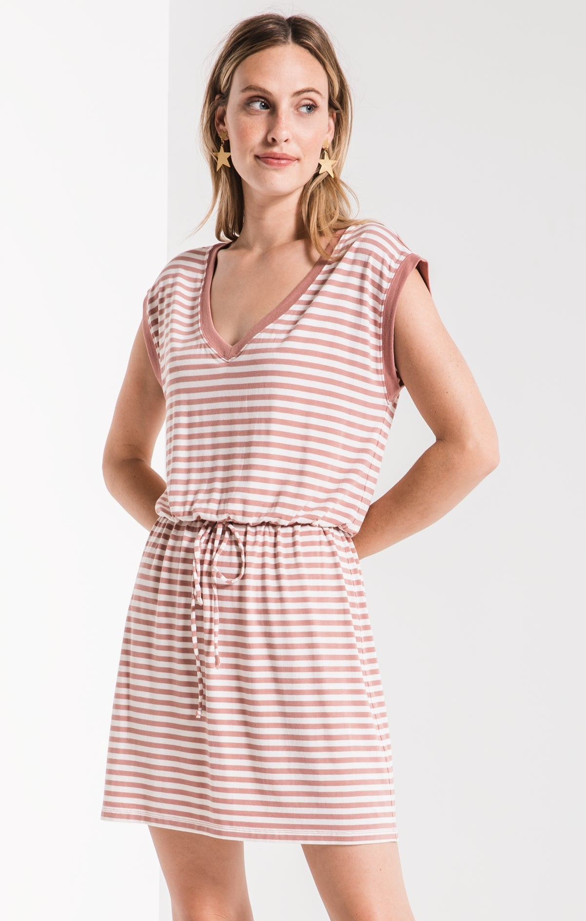 Z Supply Striped Shirred Dress ZD191651 (more colors)