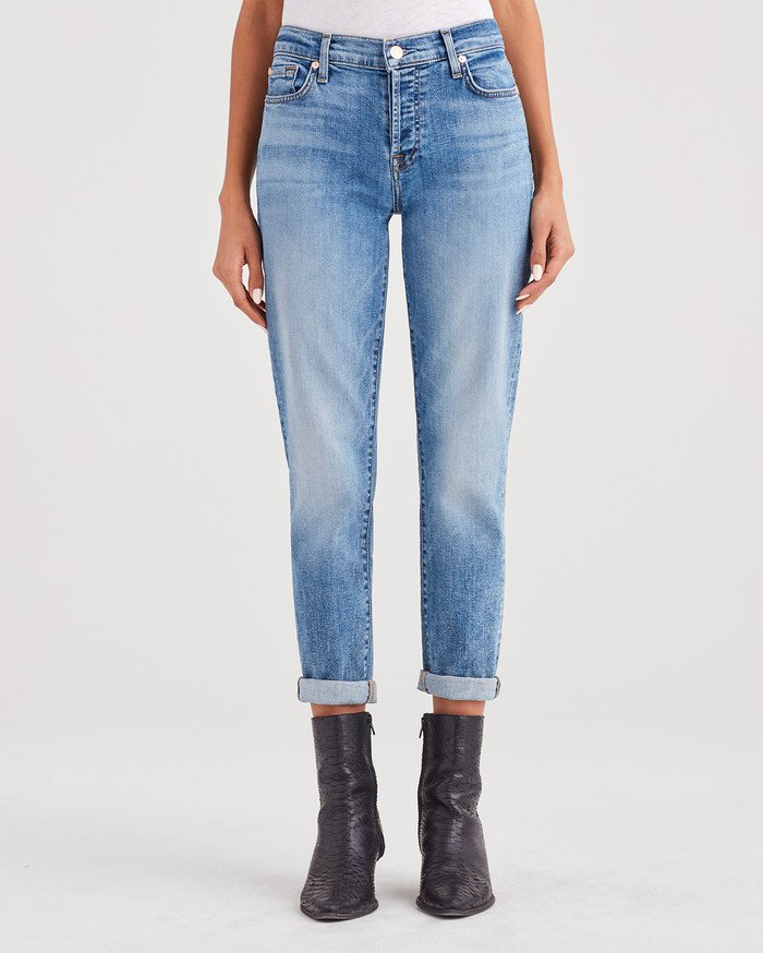 7 for all Mankind Josefina Boyfriend Jean - Light Classic