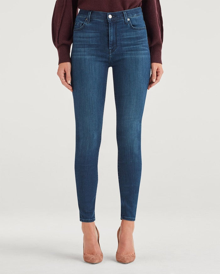 7 For All Mankind Highwaist Skinny Jean-Baurmistic AU0444215