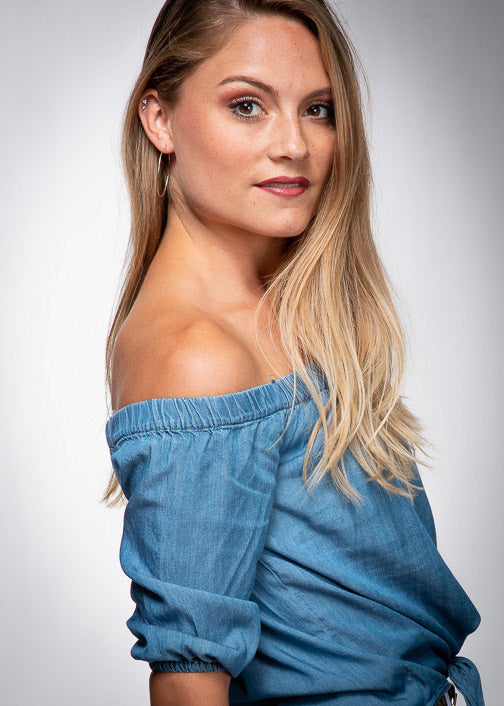 Denim Off Shoulder Top