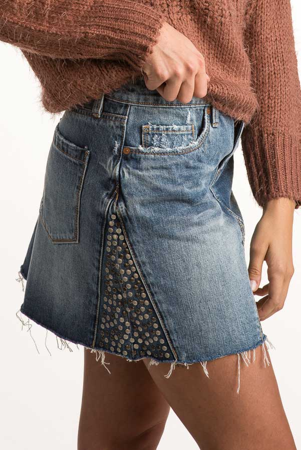Blank NYC Way Back When Denim Skirt