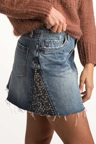 BLANKNYC Way Back When Denim Skirt