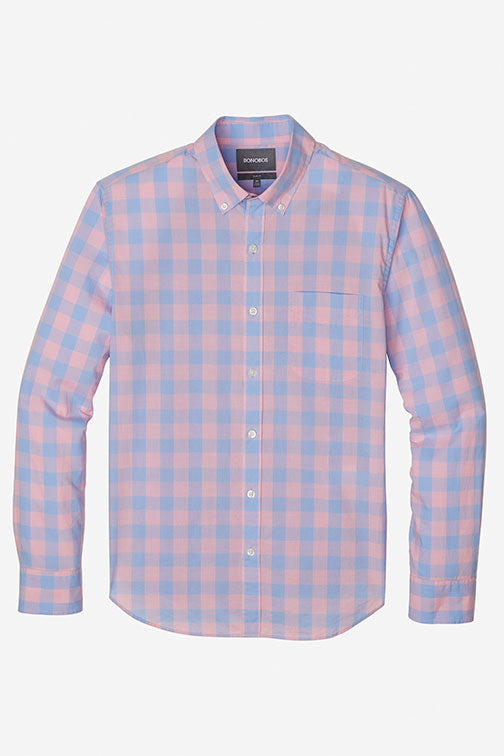 Bonobos Canyon Lake Gingham Shirt 23231-PPM64