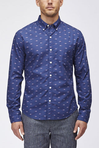 Bonobos Washed Slim Fit Shark Shirt 25734-BOU18