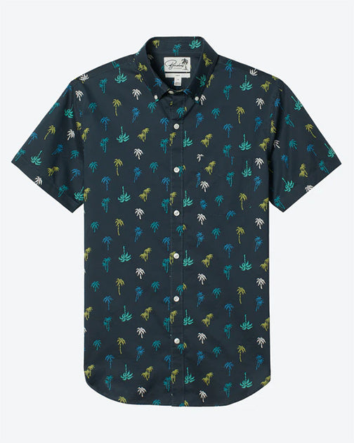 Bonobos Palm Party Riviera S/S Shirt 25850-GRY80