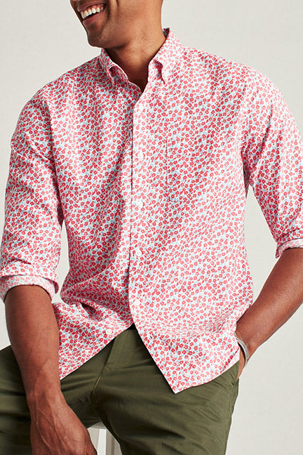 BONOBOS Washed Floral Slim Fit Button Front 27757-R0344