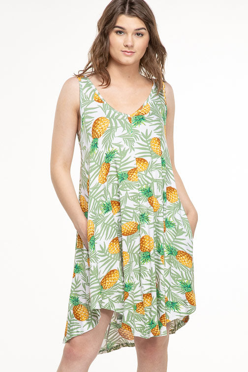 Pineapple Midi Mumu