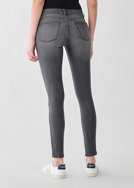 DL1961 Florence Skinny Mid Rise Jean 3516 in Drizzle