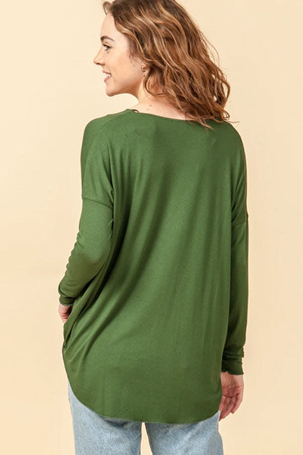 Emily Surplice V-Neck Knit Top