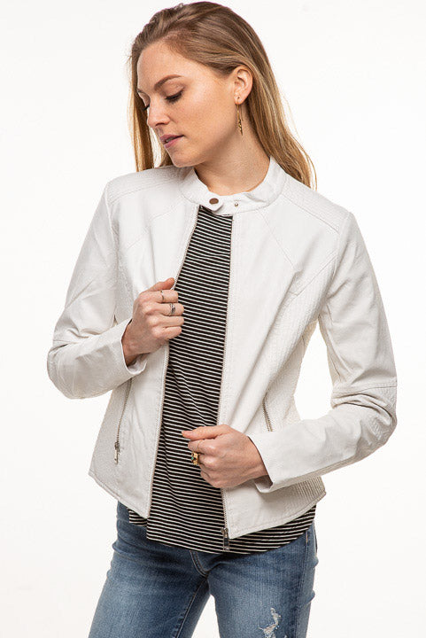 White Vegan Jacket DPJ3094
