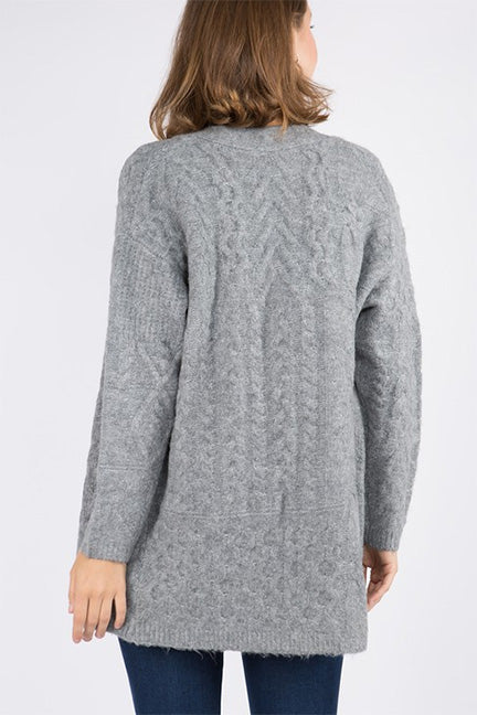 Dreamers Cable Open Cardigan CA8540-R