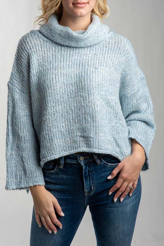 Mia Turtle Neck Pullover with Bell Sleeves