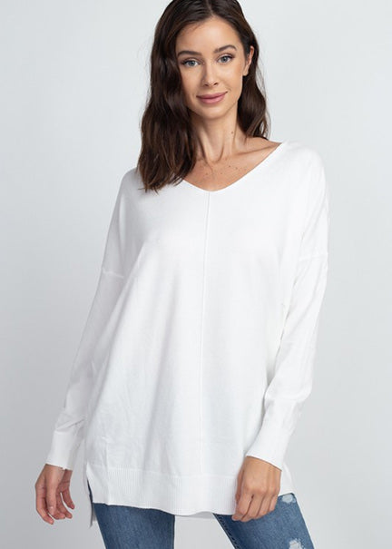 Dreamers Super Softy V Neck Sweater T3638