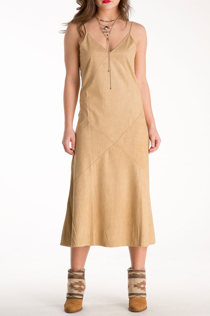 Sueded Midi Dress