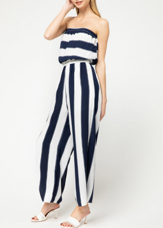 Broad Stripe Sleeveless Jumper 5637