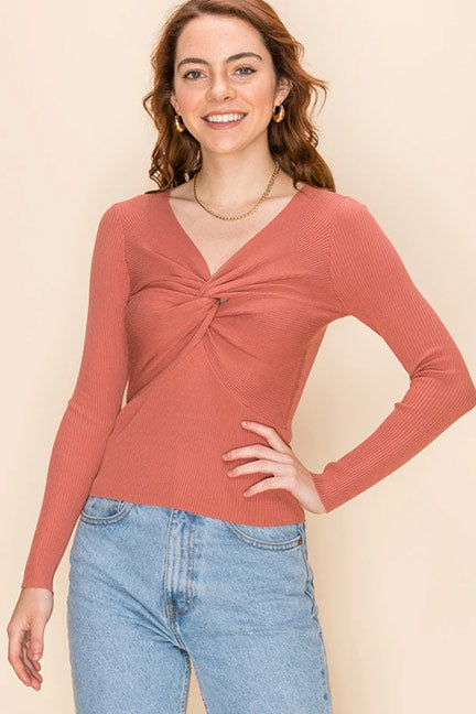 Favlux V Neck Sweater Top FL20H480