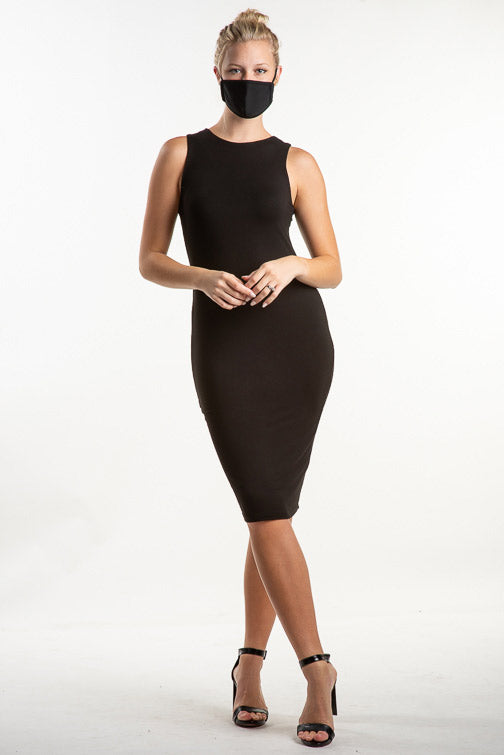 Evelyn Fitted Solid Knit Sleeveless Dress