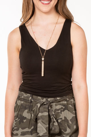 Final Touch V Neck Crop Top T14825