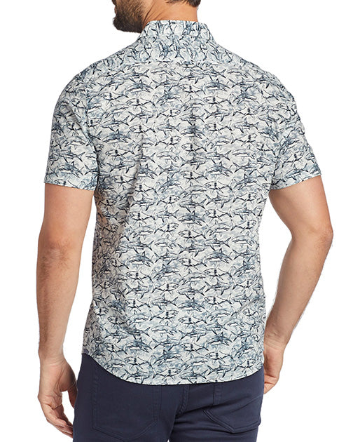 Flag & Anthem Linnell SS Shark Print Shirt SP21WS164