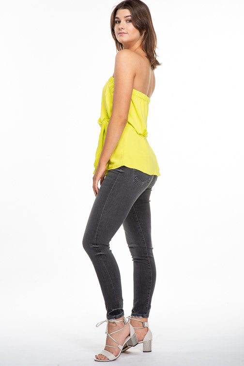 Flying Monkey High Rise Crop Skinny in Caviar