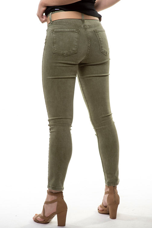Flying Monkey Hi Rise Super Soft Olive Jean Y3241