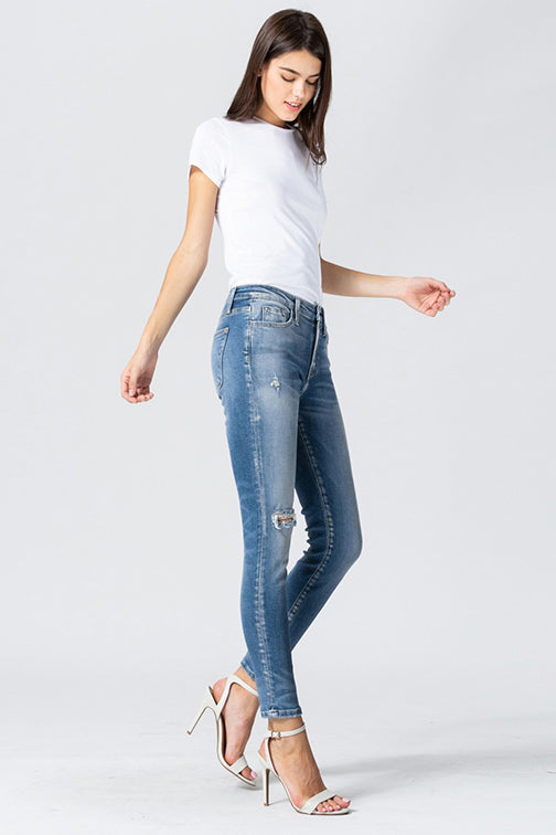 Flying Monkey Mid Rise Distressed Ankle Skinny Jean Y3570-FALL