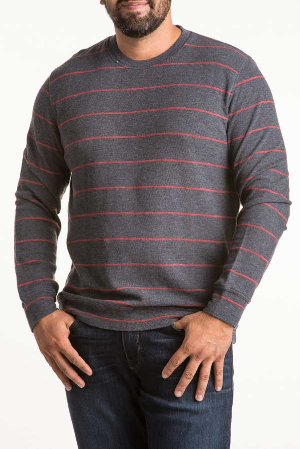 Grayers Baird Stripe Thermal Crew K008117NRE (more colors)