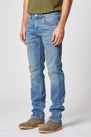 Hudson Byron Straight Leg Zip Fly Jean in Interfer M255ZDBS-INTF