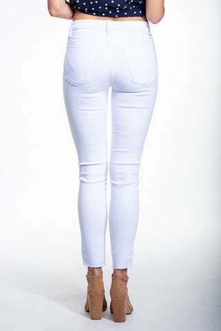 Hudson Barbara Hi Rise Super Skinny Jean In White