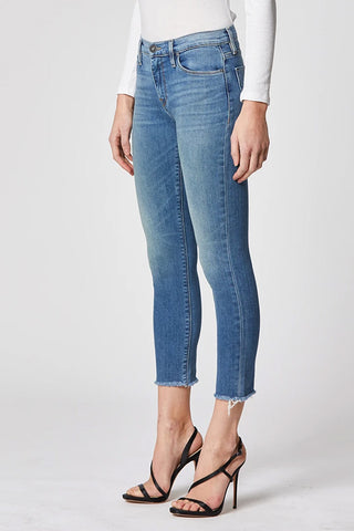 Hudson Nico Mid-Rise Skinny Raw Hem Jean in Righteous WMR447DDA-RIGH