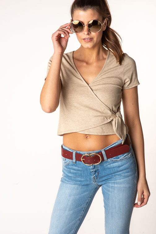 Wrap Front Crop Top (more colors)