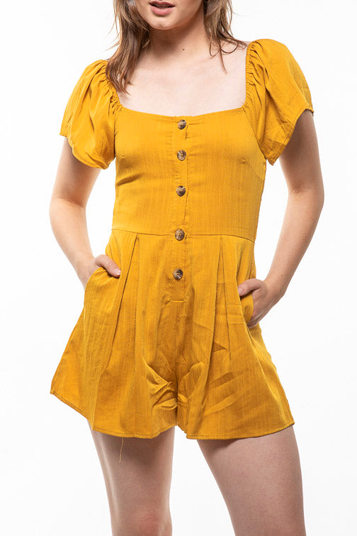 Square Neck Romper (more colors)